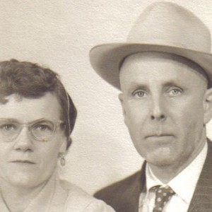 velyn Marie Danner and her husband the day they married.