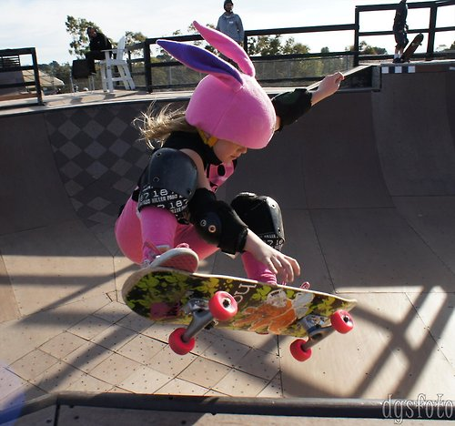 Annika Vrklan, 8 year old pro skateboarder