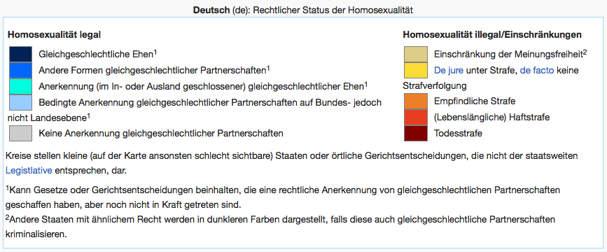 Legende: homosexuality laws | Wikipedia