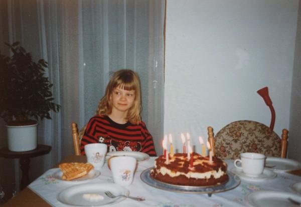 Ich, sieben Jahre alt.