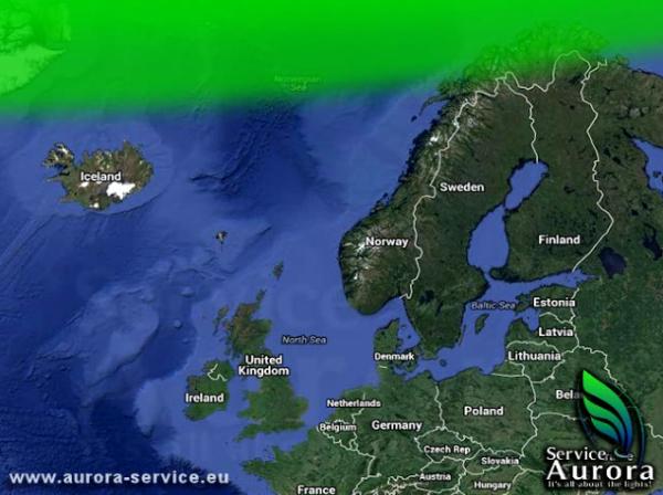 Screenshot: http://www.aurora-service.eu/aurora-forecast/